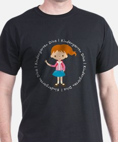 Cute Girl Kindergarten Diva T-Shirt