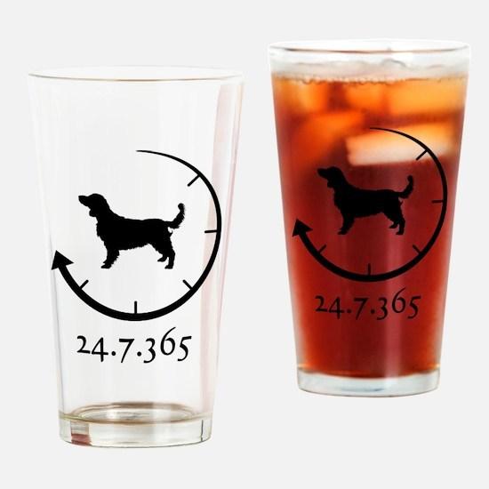 Welsh Springer Spaniel Drinking Glass