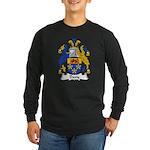 Davy Family Crest Long Sleeve Dark T-Shirt