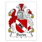 Davies Family Crest Small Poster