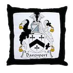 Davenport Family Crest Throw Pillow