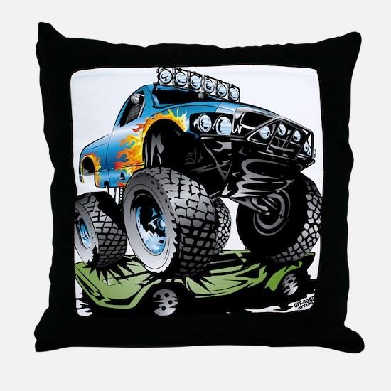 Monster Race Truck Crush Throw Pillow