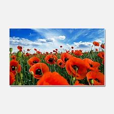 Poppy Flowers Field Car Magnet 20 x 12