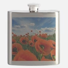 Poppy Flowers Field Flask