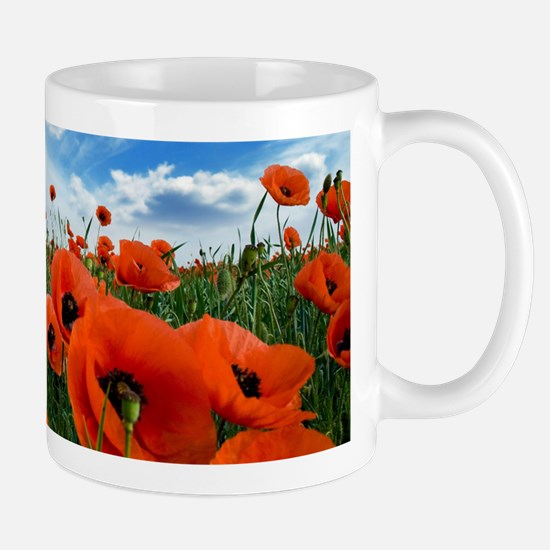 Poppy Flowers Field Mugs