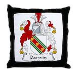 Darwin Family Crest Throw Pillow