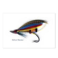 'Silver Doctor Salmon Fly'  Postcards (Package of
