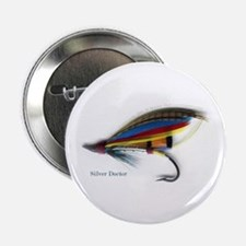 """'Silver Doctor Salmon Fly' 2.25"""" Button (10 pack)"""