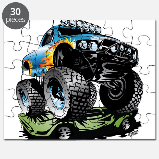 Monster Race Truck Crush Puzzle