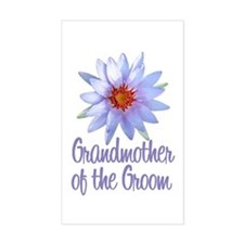 Lotus Groom's Mother Rectangle Decal