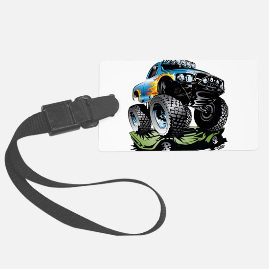 Monster Race Truck Crush Luggage Tag