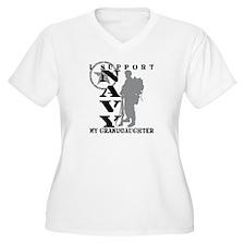 I Support Granddaughter 2 - NAVY  T-Shirt