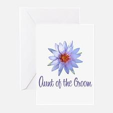 Lotus Groom's Aunt Greeting Cards (Pk of 10)