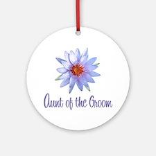Lotus Groom's Aunt Ornament (Round)
