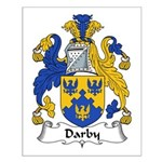 Darby Family Crest  Small Poster
