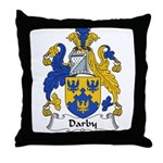 Darby Family Crest  Throw Pillow