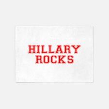 Hillary Rocks-Var red 500 5'x7'Area Rug