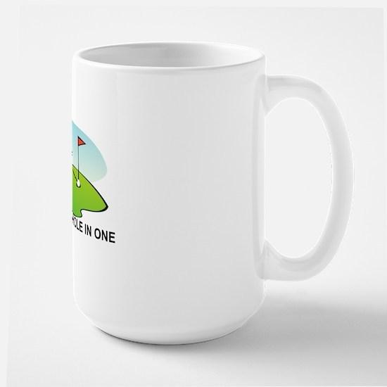 GOLF.  I MAKE A HOLE IN ONE Large Mug
