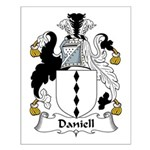 Daniell Family Crest Small Poster