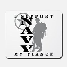 I Support Fiance  2 - NAVY  Mousepad