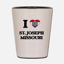I love St. Joseph Missouri Shot Glass