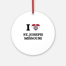 I love St. Joseph Missouri Ornament (Round)