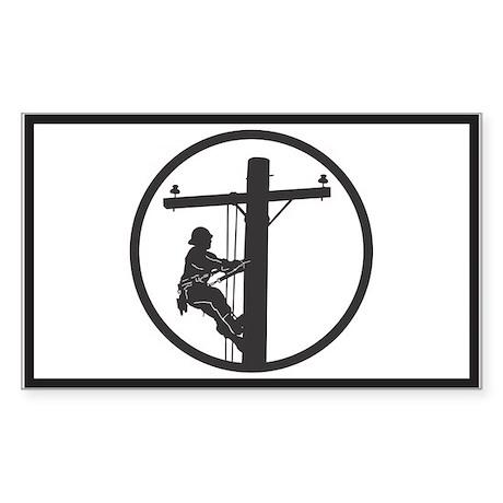 Lineman Sticker (Rectangular)