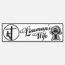 Lineman's Wife Bumper Bumper Sticker
