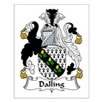 Dalling Family Crest Small Poster