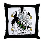 Dalling Family Crest Throw Pillow