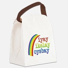 I Like Boys Canvas Lunch Bag