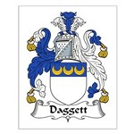 Daggett Family Crest  Small Poster