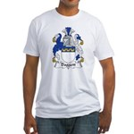 Daggett Family Crest  Fitted T-Shirt