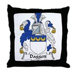 Daggett Family Crest  Throw Pillow