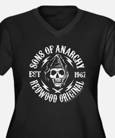SOA Redwood Women's Plus Size V-Neck Dark T-Shirt