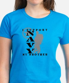 I Support Brother  2 - NAVY  Tee