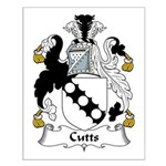 Cutts Family Crest  Small Poster
