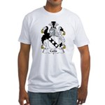 Cutts Family Crest  Fitted T-Shirt
