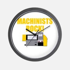 Machinists Rock Wall Clock