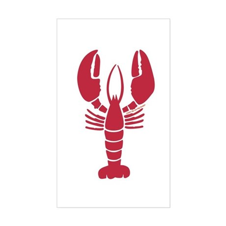 Lobster Sticker (Rectangle)
