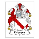 Culpeper Family Crest  Small Poster