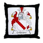 Culpeper Family Crest  Throw Pillow