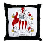 Crump Family Crest Throw Pillow