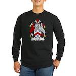 Crull Family Crest Long Sleeve Dark T-Shirt