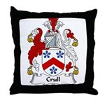 Crull Family Crest Throw Pillow