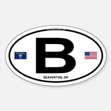 B Euro Oval - Beaverton, OR Oval Decal