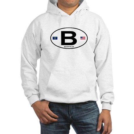 B Euro Oval - Beaverton, OR Hooded Sweatshirt