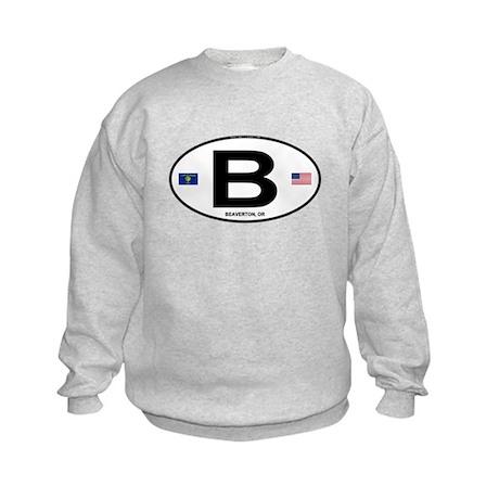 B Euro Oval - Beaverton, OR Kids Sweatshirt