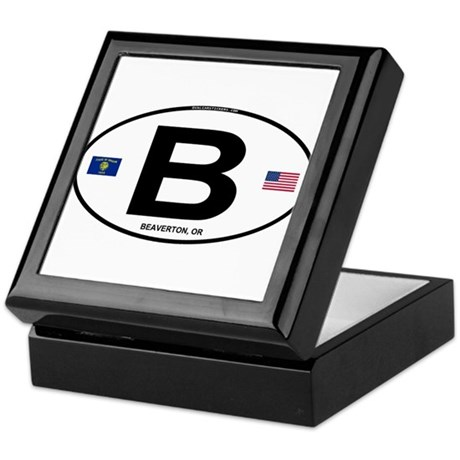 B Euro Oval - Beaverton, OR Keepsake Box