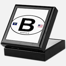 B Euro Oval - Beaverton, OR Keepsake Box